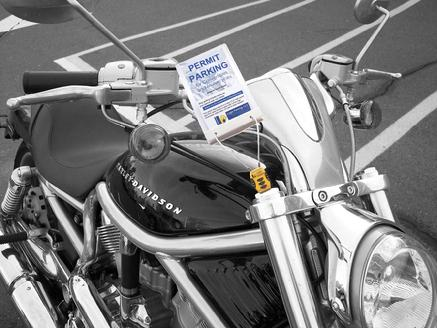 Lockable motorcycle scooter receipt and permit holders